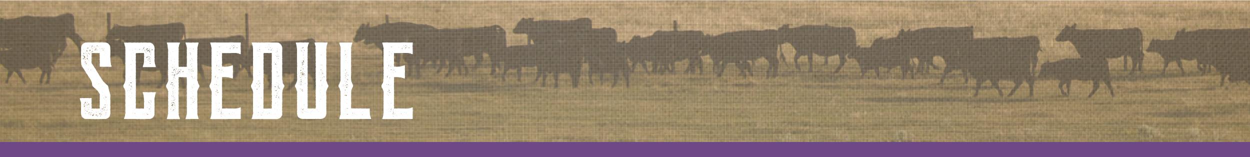 Cattle U Schedule